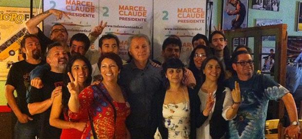 Marcel Claude se reunió con artistas que apoyan al Movimiento Todos a la Moneda