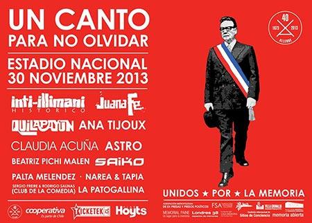 Cartel del concierto «Un canto para no olvidar 2»