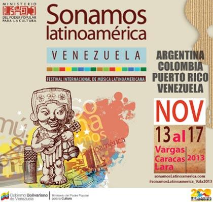 Cartel del IV Festival Sonamos Latinoamérica Venezuela 2013