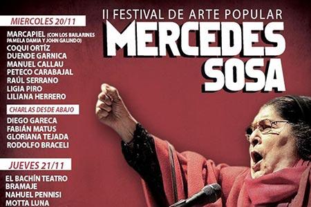Cartel del II Festival de Arte Popular «Mercedes Sosa».