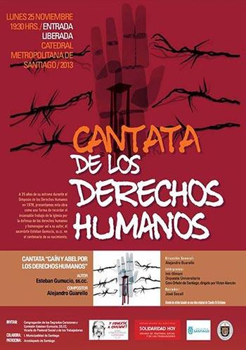 Cadrtel de la «Cantata por los derechos humanos» con Inti-Illimani.