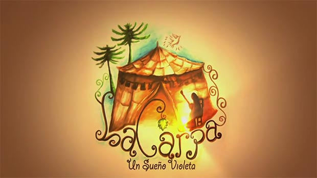 Cartel del documental «La Carpa, un sueño Violeta».