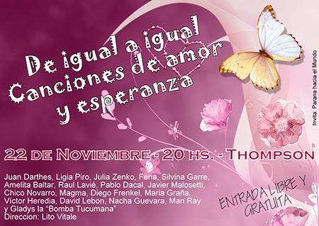 Cartel del concierto «De igual a igual. Canciones de amor y esperanza».