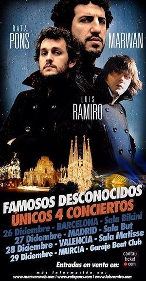 Cartel de la gira «Famosos Desconocidos».