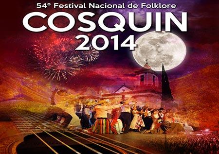 Cartel del 54 Festival de Folclore de Cosquín 2014.