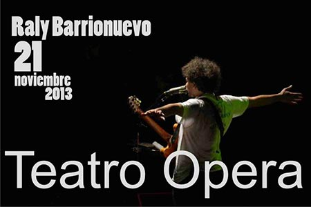 Raly Barrionuevo en el teatro Ópera