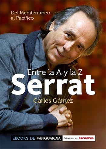 Portada del libro «Serrat entre la A y la Z» de Carles Gámez.