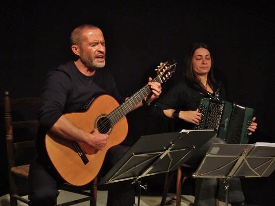 Adolfo Osta junto a Cati Plana - Festival En veu alta 2013 © Carles Gracia Escarp