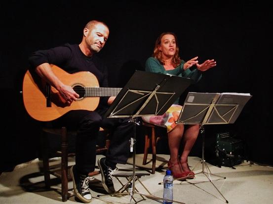 Adolfo Osta interpreta La presó de Lleida junto a la actriz y narradora Jordina Biosca © Carles Gracia Escarp