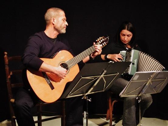 Adolfo Osta y Cati Plana en escena - Vilafranca del Penedès (Barcelona)  © Carles Gracia Escarp