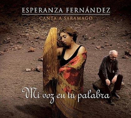 Portada del disco «Mi voz en tu palabra de Esperanza Fernández.