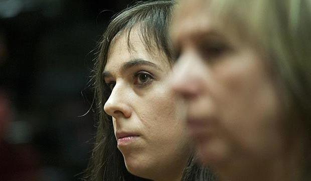 Laia M. en el jucio que finalmente ha resultado absuelta. © EFE