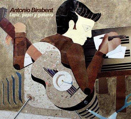 Portada del disco «Lápiz, papel y guitarra» de Antonio Birabent.