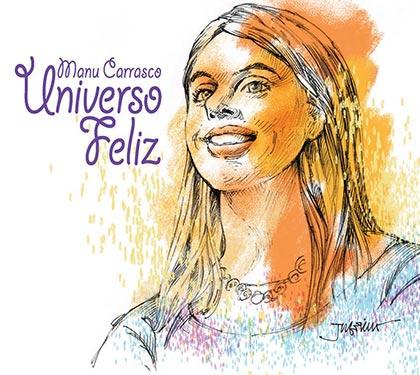 Portada del disco «Universo Feliz» de Manu Carrasco.
