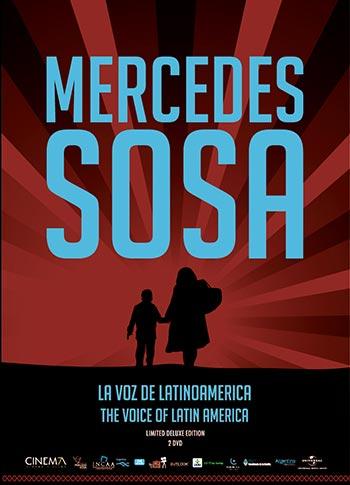 Portada del DVD «Mercedes Sosa, la voz de Latinoamérica».