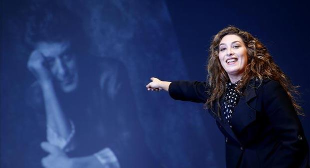 La cantaora de flamenco, Estrella Morente, durante la presentación del memorial «Morente Más Morente» en el Teatro Español. © EFE