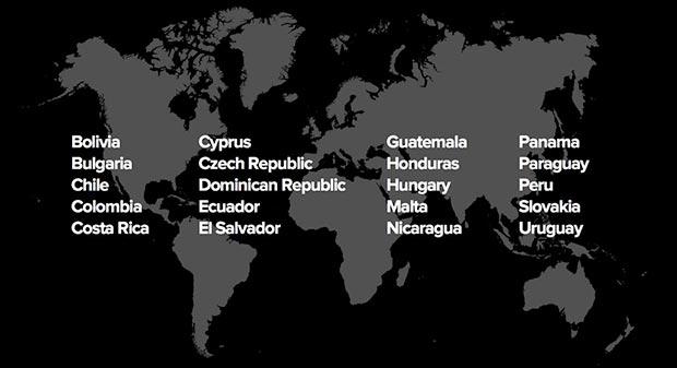 Spotify estará disponible en 20 nuevos mercados, incluyendo a Chile, Colombia, Uruguay, El Salvador, Paraguay, Honduras, Panamá, Nicaragua, Perú, Ecuador, República Dominicana, Guatemala, Costa Rica y Bolivia.