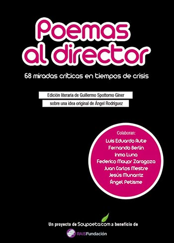 Portada del libro «Poemas al director. 68 miradas críticas en tiempos de crisis».