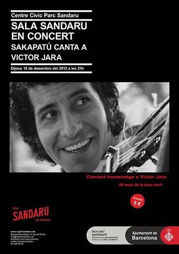 Cartel del concierto homenaje a Víctor Jara.
