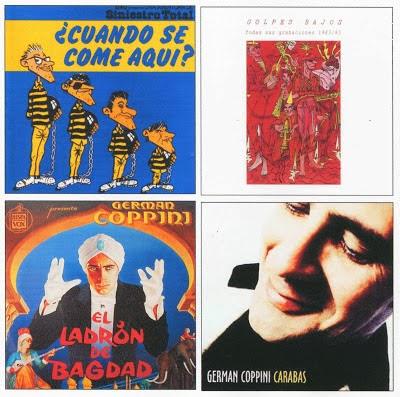 Portadas de distintos discos de Germán Coppini.