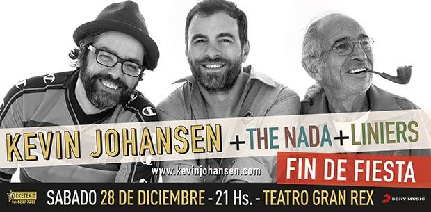 Cartel del concierto de Kevin Johansen en el Gran Rex el 28 de diciembre.