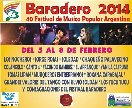 Cartel del 40 Festival de Baradero 2014