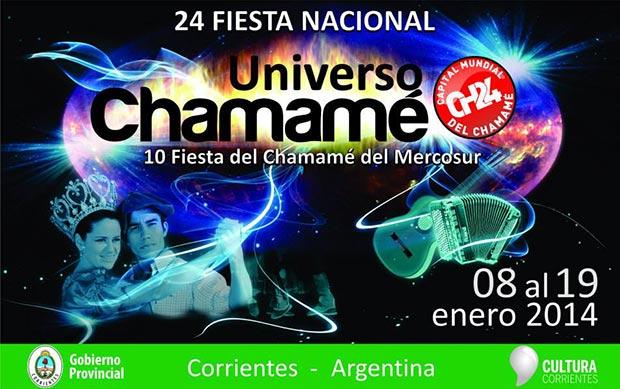 Cartel de la 24 Fiesta Nacional del Chamamé 2014