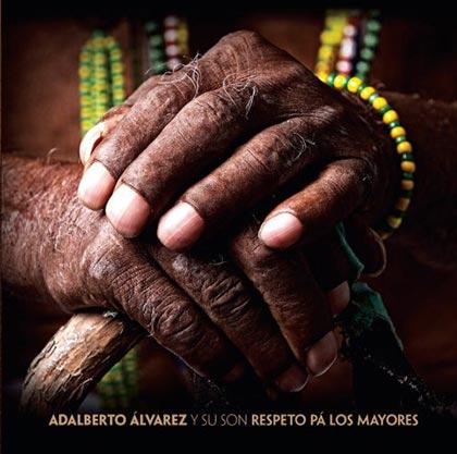 Portada del disco «Respeto pa los mayores» de Adalberto Álvarez.