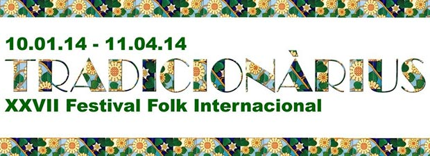 Cartel de XXVII Festival Folk Internacional Tradicionàrius 2014