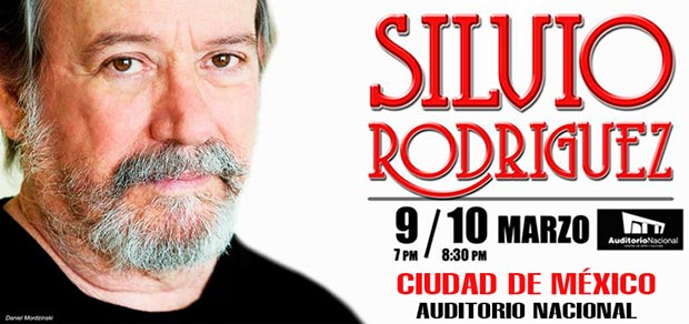 Cartel de la gira mexicana de Silvio Rodríguez.