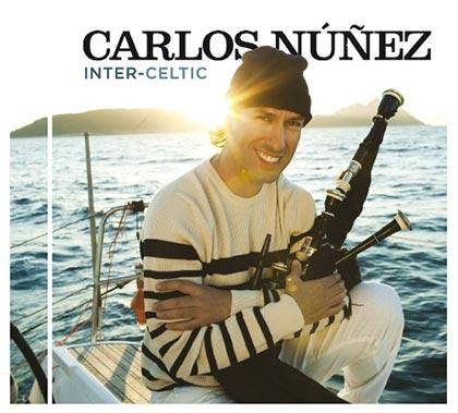Portada del disco «Inter-Celtic» de Carlos Núñez.
