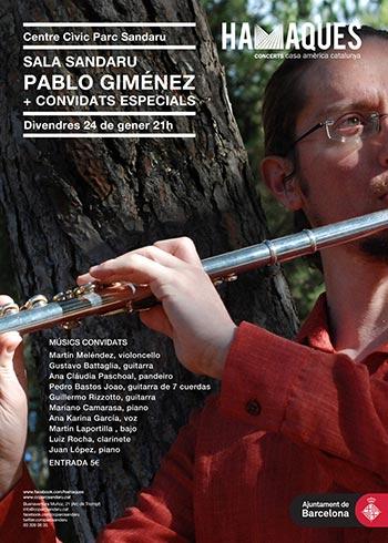 Cartel del concierto de Pablo Giménez del ciclo Hamaques.