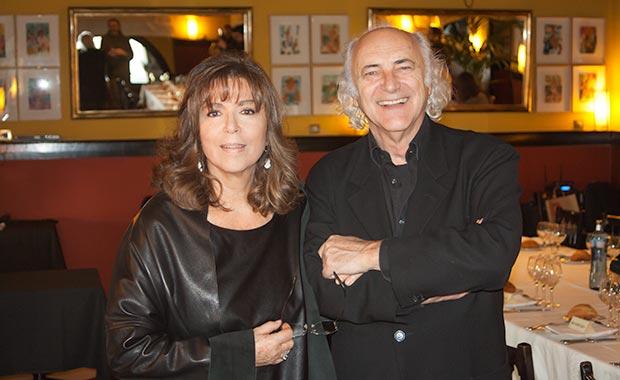 Maria del Mar Bonet y Amancio Prada en la conferencia de prensa de presentación de su concierto «Por amar al arte». © Xavier Pintanel