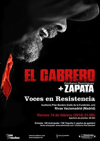 El Cabrero y Emiliano Domínguez Zapata en el Auditorio Pilar Bardem de Rivas Vaciamadrid.