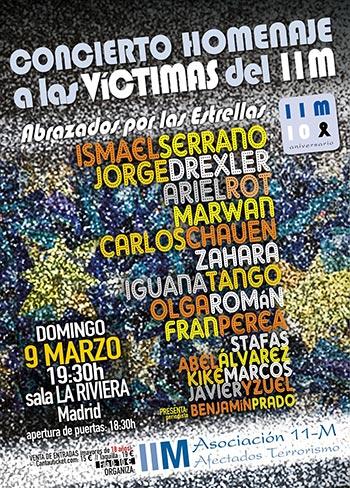 Cartel del concierto en homenaje a las víctimas del 11-M.