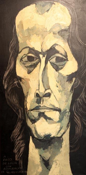 Retrato de Paco de Lucía por Oswaldo Guayasamín.