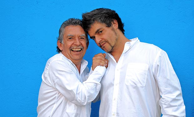 Ángel Parra, padre e hijo.