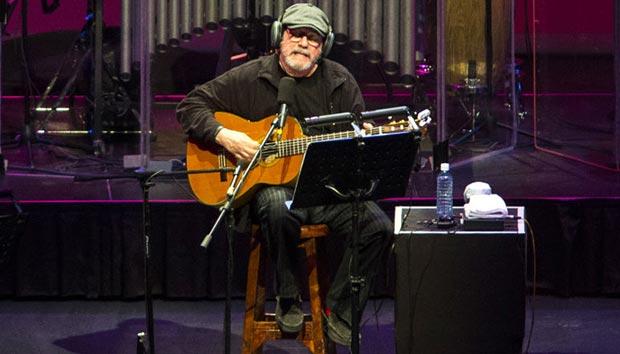 Silvio Rodríguez en su reciente concierto en el Auditorio Nacional.