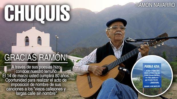 Ramón Navarro: los 80 años de un cantautor con calles.