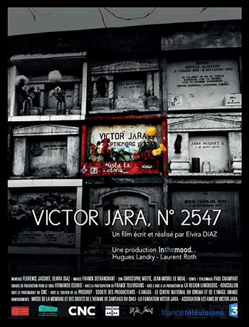 Cartel del documental «Víctor Jara No. 2547» de Elvira Díaz.