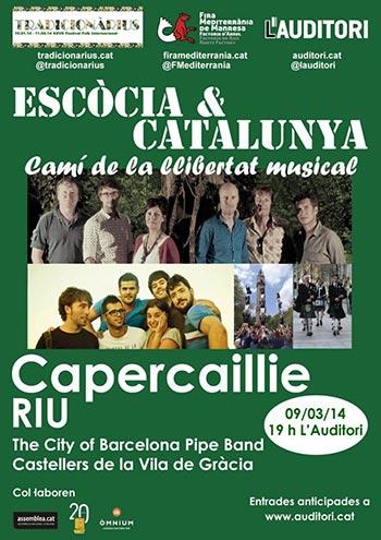 Cartel del concierto «Escòcia&Catalunya. Camí de la llibertat».