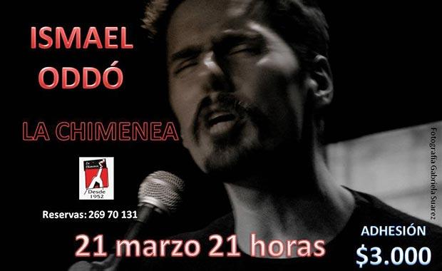 Ismael Oddó en formato acústico en La Chimenea.