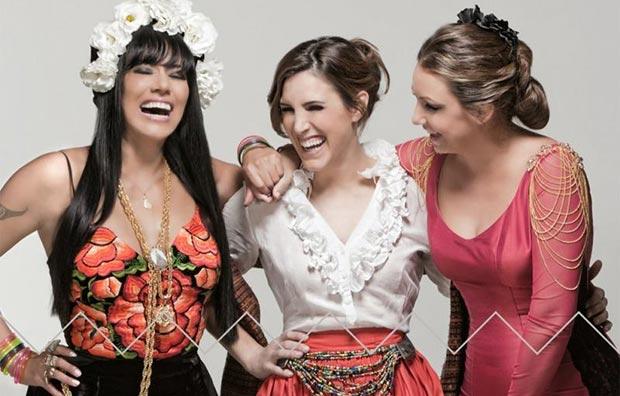 Lila Downs, Soledad Pastorutti y Niña Pastori.