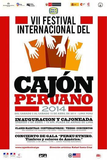 Cartel del VII Festival Internacional del Cajón Peruano 2014