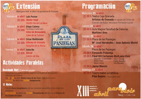 XIII Edición del festival Abril para Vivir