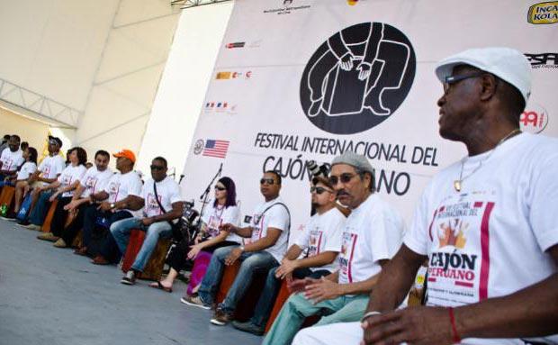 Primera jornada del VII edición del Festival Internacional del Cajón Peruano 2014.