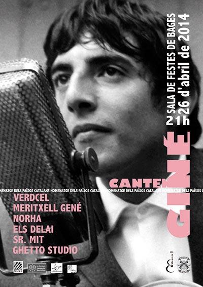 Cartel del concierto de presentación de «Cantem Giné» (Cantemos Giné) del próximo sábado.