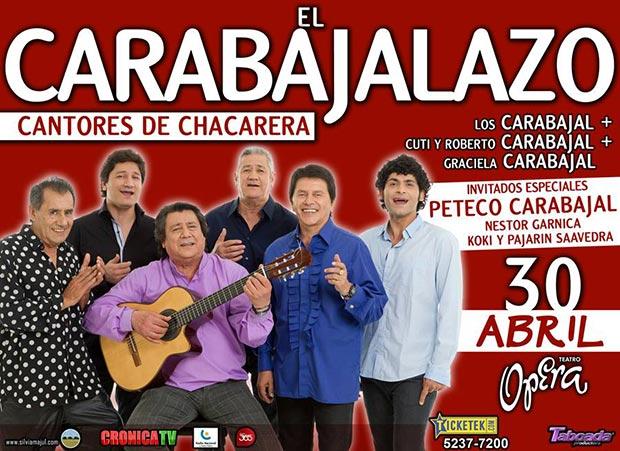 «Carabajalazo» con ritmo de chacarera en el teatro Ópera de Buenos Aires.