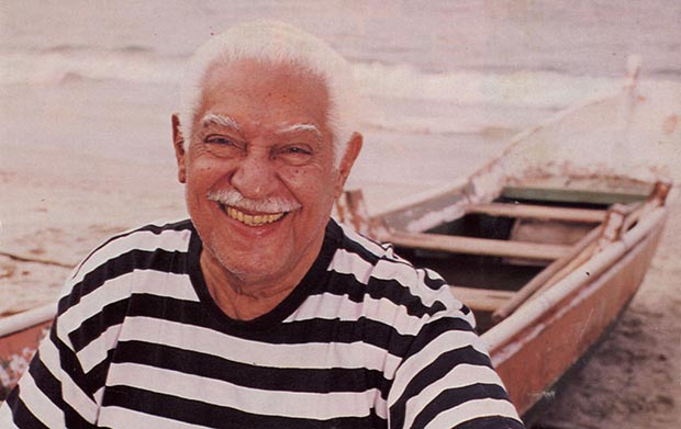 Dorival Caymmi, patriarca de la Música Popular Brasileña (MPB).