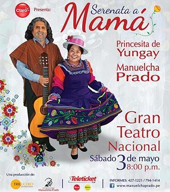 Manuelcha Prado y Angélica Harada «Princesita de Yungay» le cantan a la Madre en «Serenata a mamá».